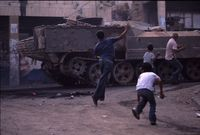 Stone Throwing - Jenin, West Bank | Jon Elmer 2003